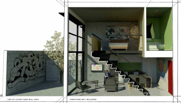 Eye of the fish a wide angle view of architecture urban for Design apartment 50m2