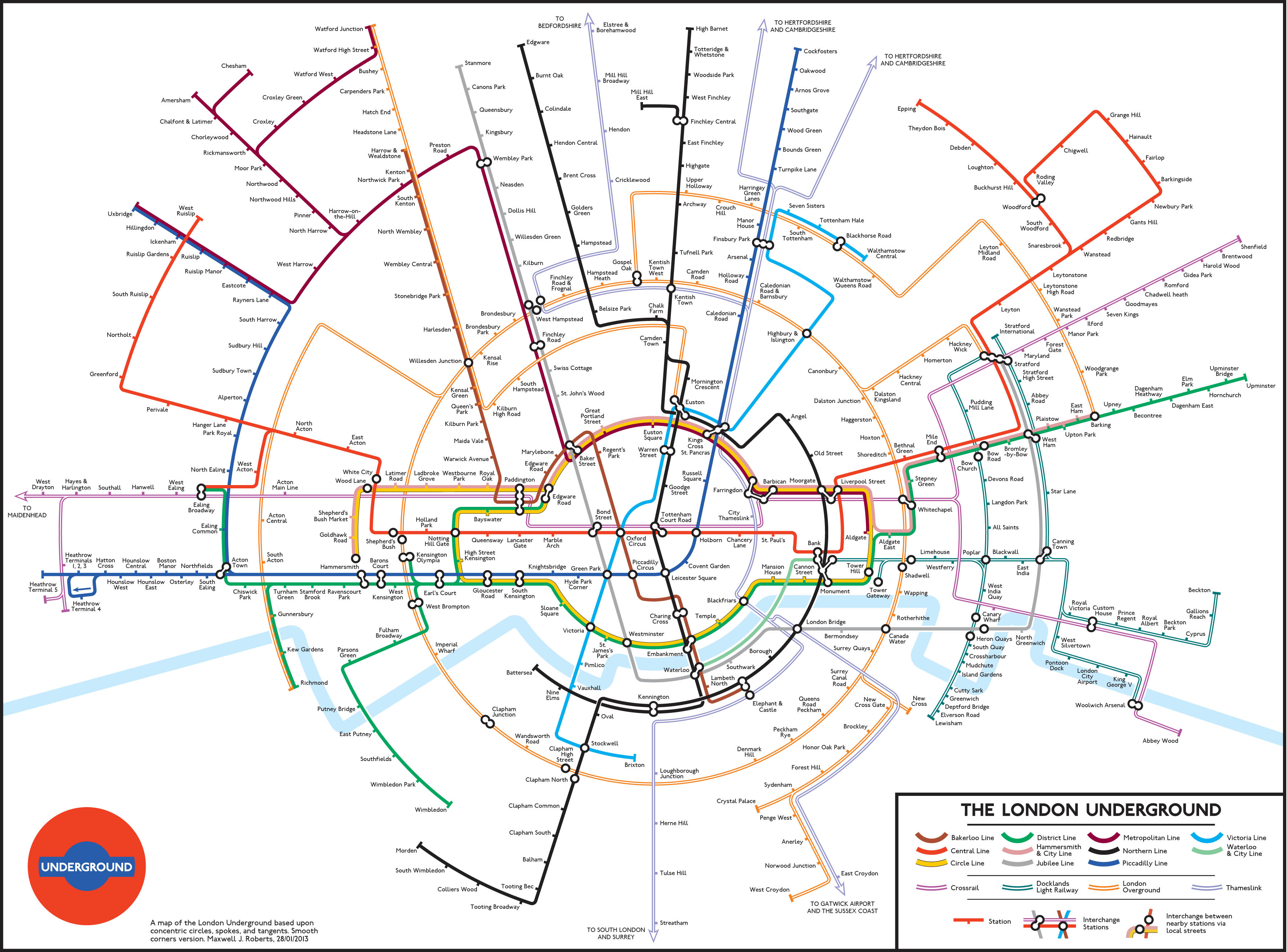 Eye of the Fish – London Underground System Map